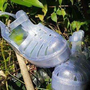 NWOT‼ VINTAGE 90'S Glitter Plastic Chunky Platform